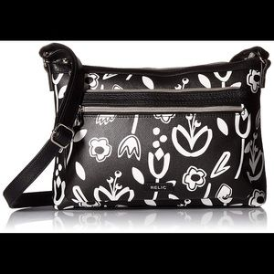 Relic by Fossil Evie Crossbody Bag Black Floral